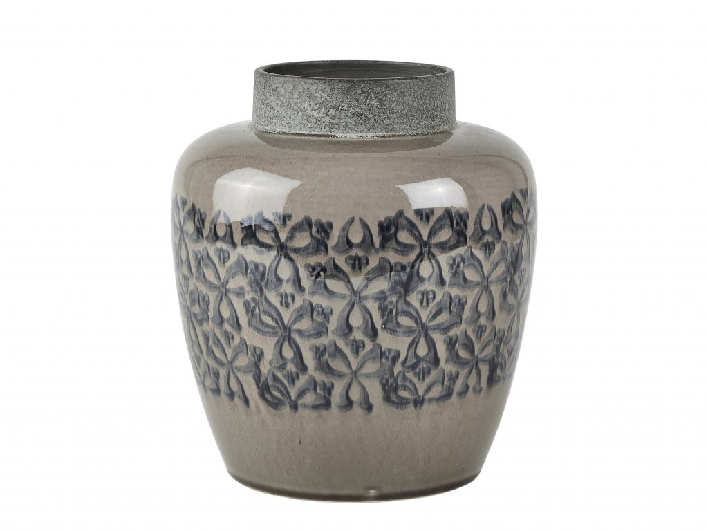 Vasi keramik með mynstri