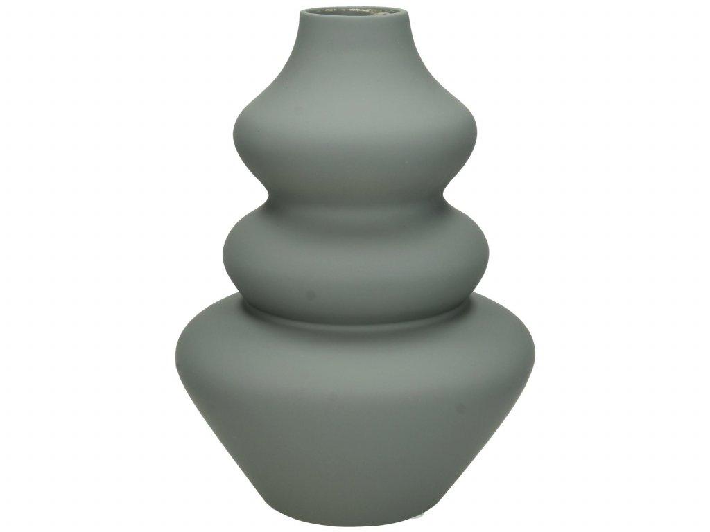 Vasi leir 15x15x22cm grey