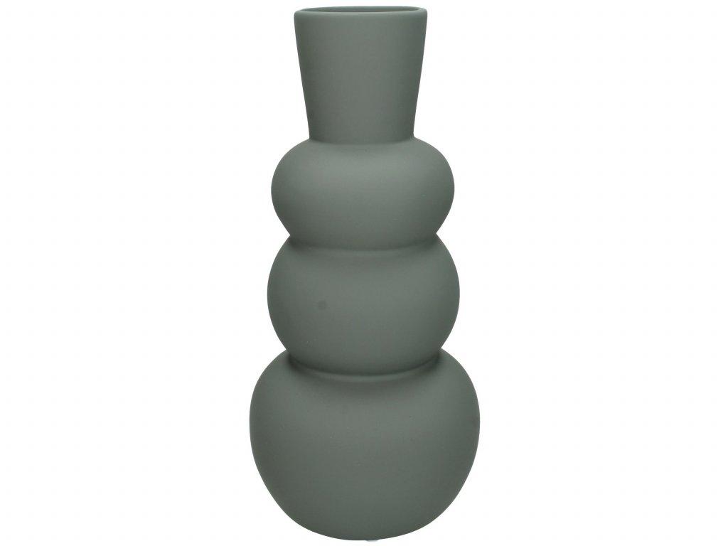 Vasi leir 13x13x29cm grey