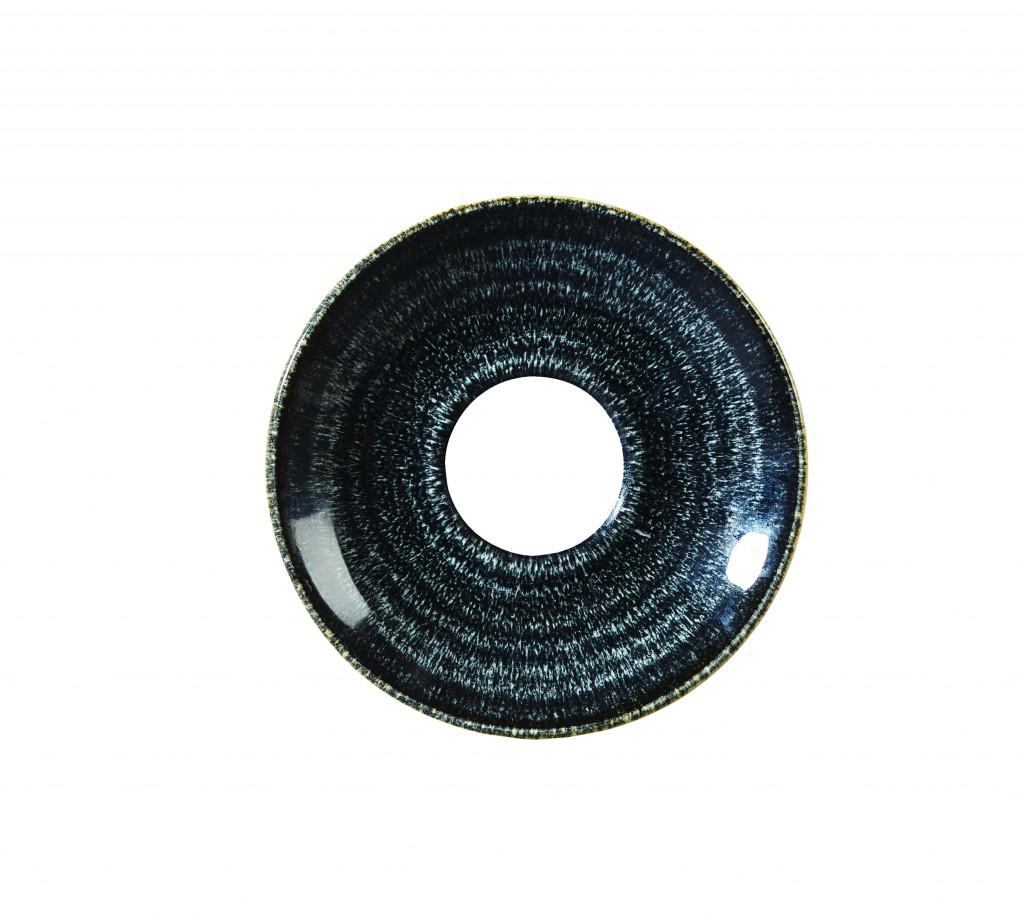 Undirskál 15,6cm cappucino Homespun charcoal black