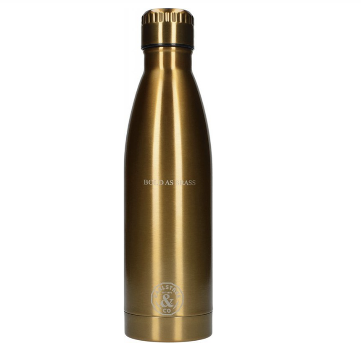 Flaska stál 500ml með texta Earlstree & Co brass