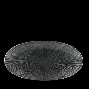 Diskur oval 17x35cm StudioPrints Agano black