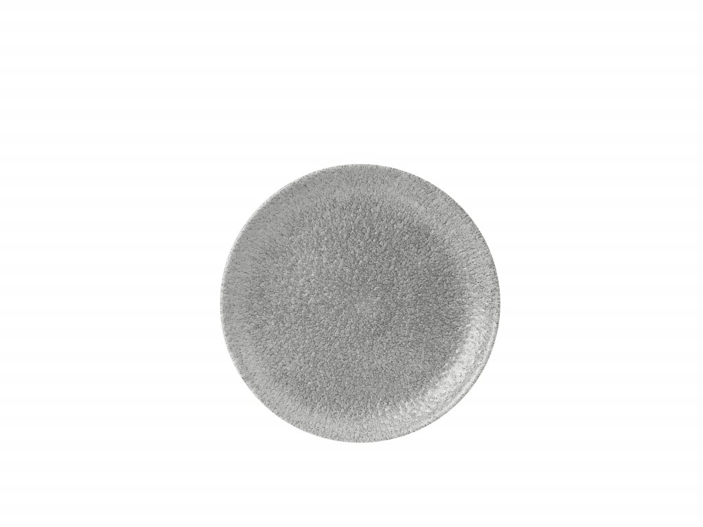 Diskur 26cm coupe Raku jasper grey