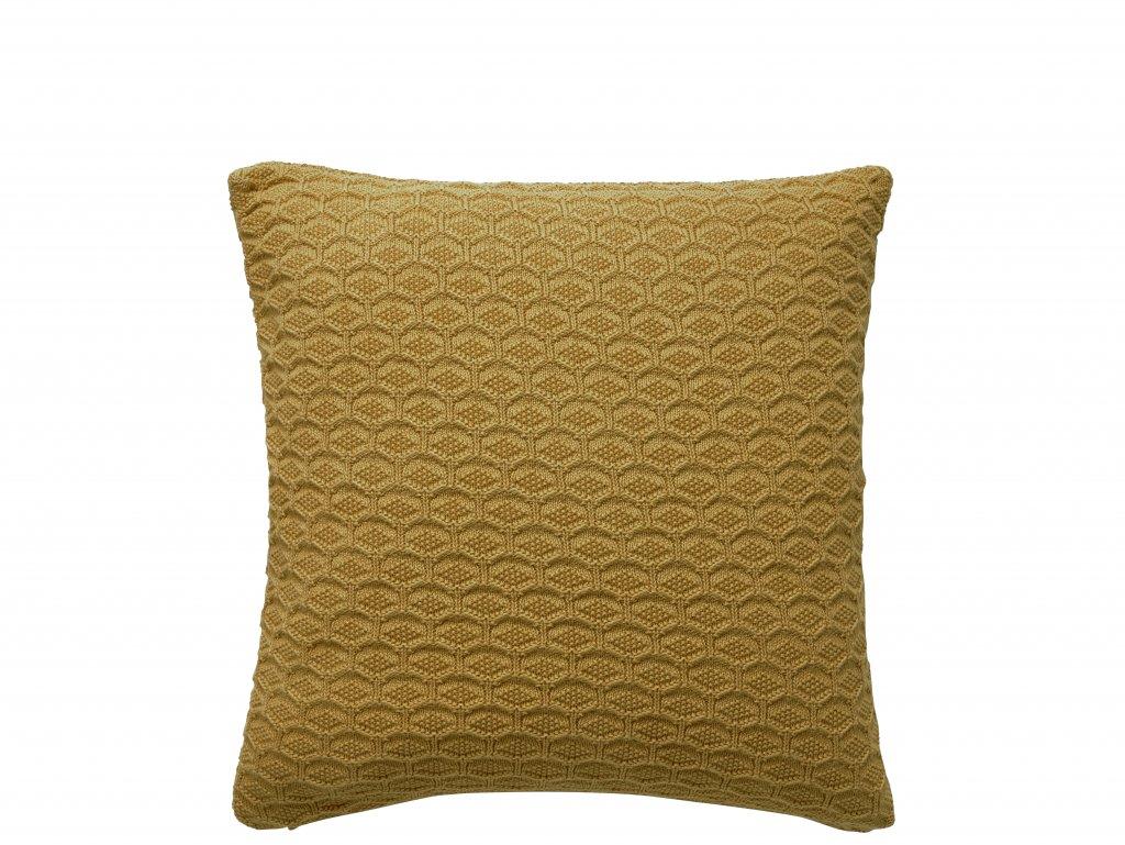 Púði 50x50 Deco knit golden