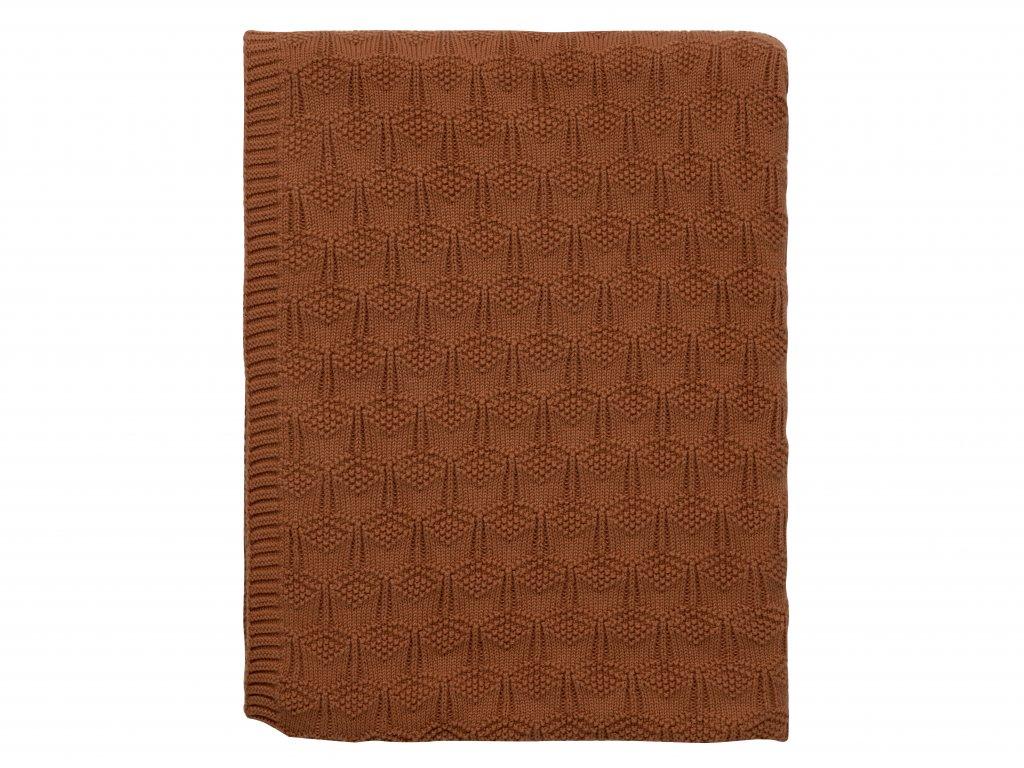 Teppi 130x170 Deco knit terracotta