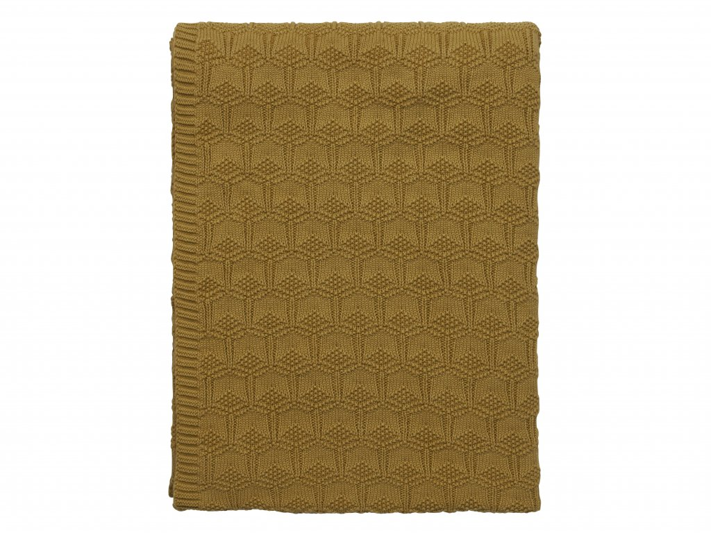 Teppi 130x170 Deco knit golden