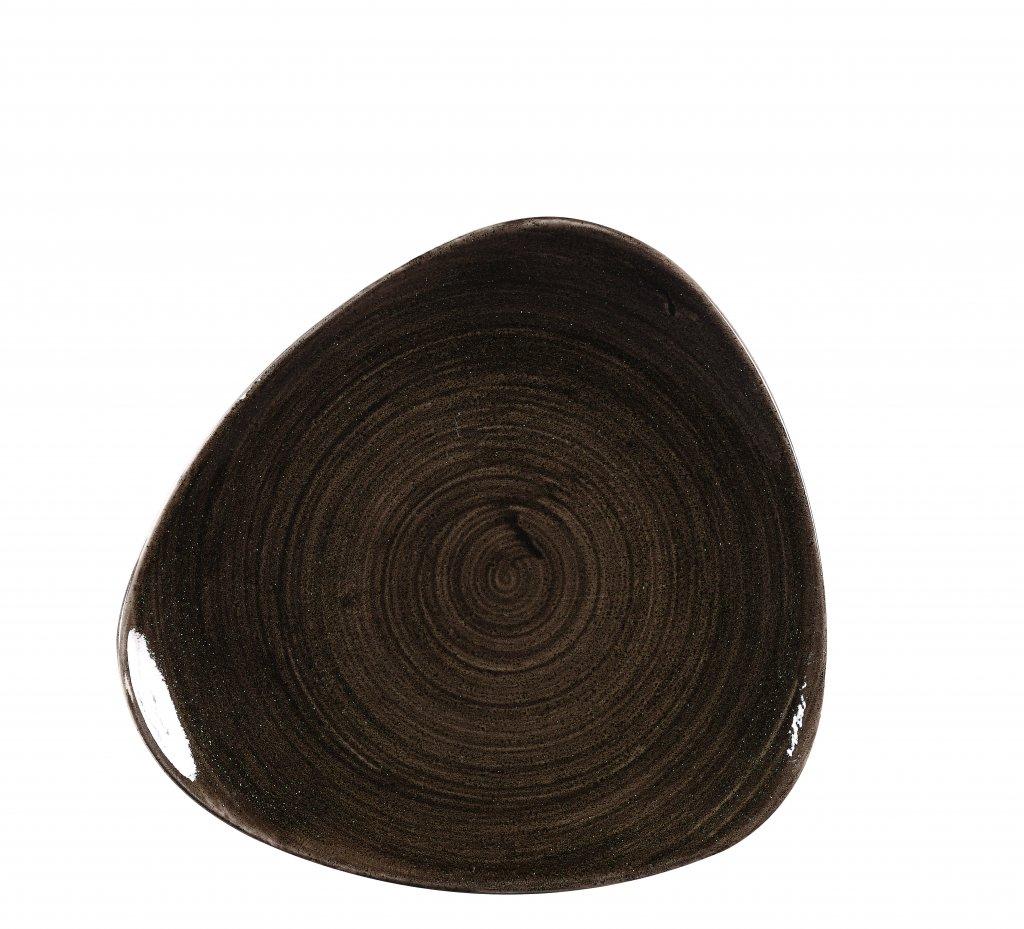 Skál triangle 23,5cm Stonecast Patina iron black