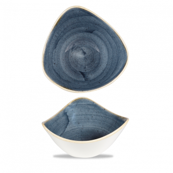 Skál triangle 18,5cm Stonecast blueberry
