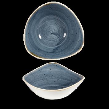 Skál triangle 23,5cm Stonecast blueberry